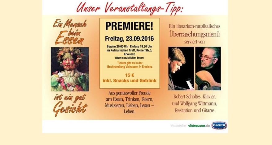 Veranstaltung Menü Musik Viehausen Bürobedarf Erkelenz
